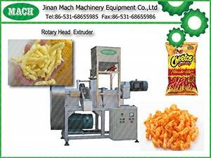 China cheetos, kurkure, cheese curls Rotary head extruder /machine on sale