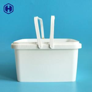 China Microwavable Small Square Plastic Containers Heat Resistant Printing on sale