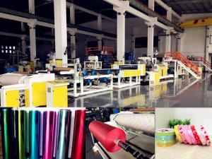 China AF-1000mm PP Jumbo Roll Ribbon Film Sheet Extrusion Machine For Gift Packaging on sale
