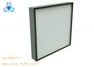 China Commercial Air Conditioner HVAC System H13 Hepa Panel Filter Mini Pleat HEPA Filter on sale