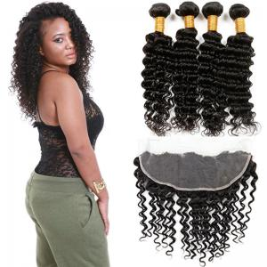 China Healthy 100 Unprocessed Virgin Brazilian Hair Deep Wave Customized Color on sale