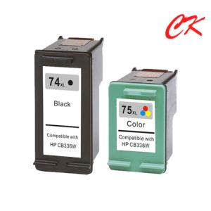 China 74 ink /74xl / 75xl  INK cartridge use for HP Deskjet D4260/ photosmart C4280/C4385/C5280/D5360 on sale