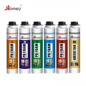China Homey one component classic closed cell pu foam spray malaysia for roof or wall insulation pu foam on sale