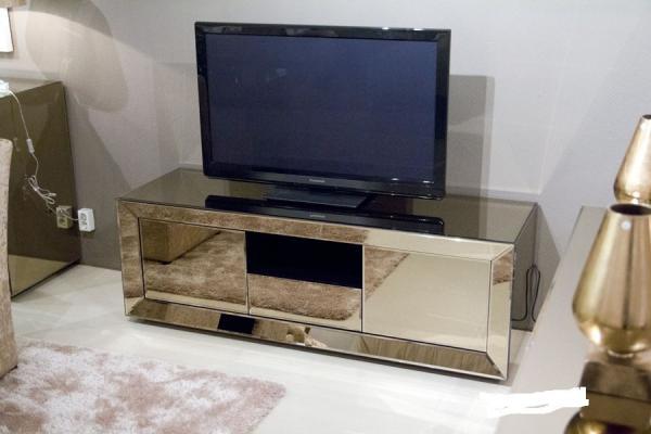 Popular Hotel Mirrored Glass Tv Cabinet, Mirrored Glass Corner Tv Stand