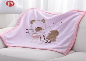 China Newborn Thick Warm Baby Blanket With 2 Layers Super Soft Knitted Animal Pattern ECO on sale