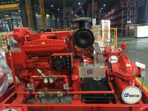 China High Speed EDJ Split Case Fire Pump For Thermal Power Plants 500gpm on sale