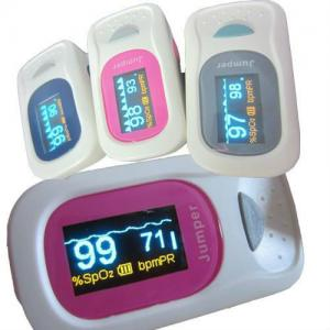 China fingertip pulse oximete, monitor pulse rate and SPO2 with adjustable safety range on sale