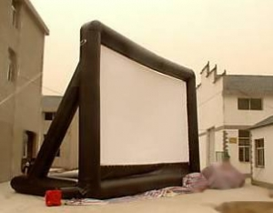 China INFLATABLE OUTDOOR MOVIE SCREEN 25ft*14ft Movie Screen on sale