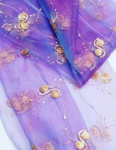 China spangle embroidery curtain fabrics FDBL-6016 on sale