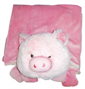 China Plush Animal Blankets Pig on sale