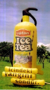 China Customer's Shape Inflatable 15' Lipton Ice Tea on sale