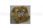 Golden crystal buckle