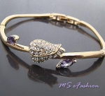 BG595HC 20% off Flower Bangle w/Swarovski Crystal