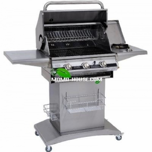 China 3 BURNERS GAS GRILL WITH SIDE BURNER M-GS008 on sale