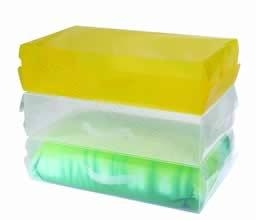 China 3 stackable clear storage shoe boxes on sale