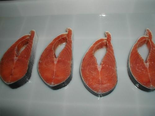 China Frozen Salmon Fish  Salmon Portion with Skin