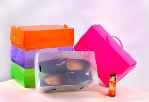 China Clear shoe storage boxes supplier