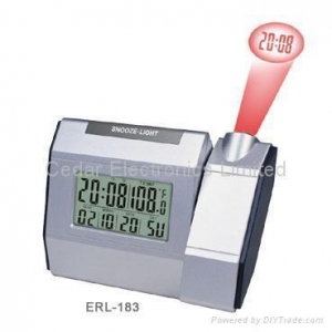 China Sound Controlled Projection Clock wirh LCD Calendar on sale