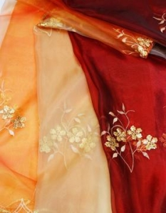 China spangle embroidery curtain fabrics FDBL-6007 on sale