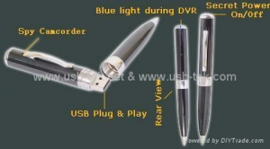 China mp9 pen USB pen camera video record pen 4GB Mini USB Digital Video Recorder Colo on sale