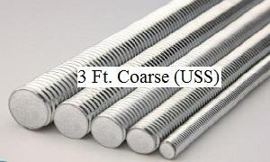 China 3 ft. B7 Alloy Steel (4140) High Strength Threaded Rod - Coarse (USS) Thread on sale