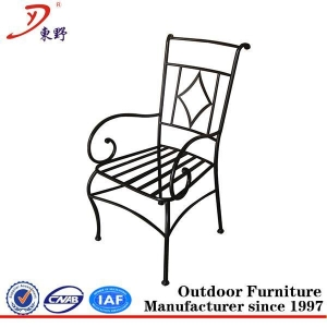 China Popular sales putdoor wrought iron chair on sale