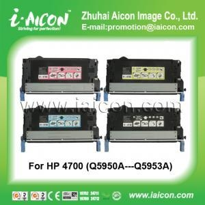 China Use in color laser printer 4700 For HP Q5950A-Q5953 color toner cartridge on sale