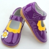 China purple plain funky squeaky shoes for babies-BBGB0947 for sale