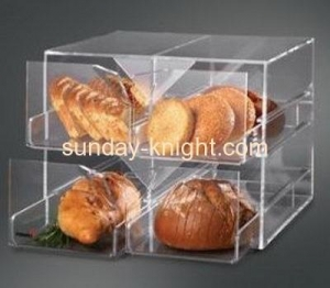 China New style 2 tiers clear acrylic bread storage box with 4 drawers FSK-028 on sale