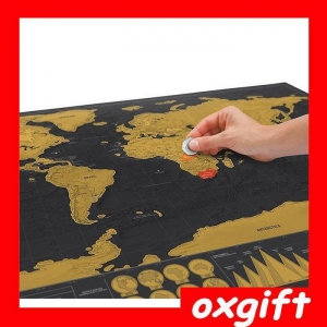 China OXGIFT Scratch Map Black Edition world map on sale
