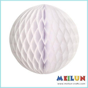 China PAPER CRAFT White tissue paper flower honeycomb ball on sale