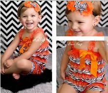 China 2015 wholesale halloween kids clothing romper lace&satin halloween romper for baby girls on sale