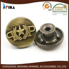 China metal jeans button logo embossed military button on sale