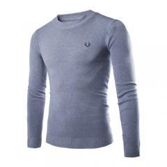 China Men Casual Slim Fit O-Neck Knitted Pullover Jumper Sweater Tops on sale