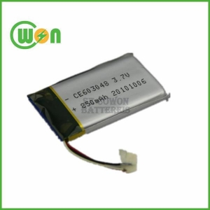 China Lithium Polymer Battery Cell 603048 3.7V 850mAh for Medical Device Machine on sale