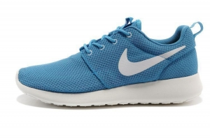 China Nike Roshe Run Mens Sports Turquoise White Running Shoes on sale