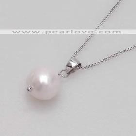 China PN292 single pearl drop silver necklace on sale