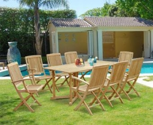 China Shelley Outdoor Drop Leaf Table and Arm Chairs (2) on sale