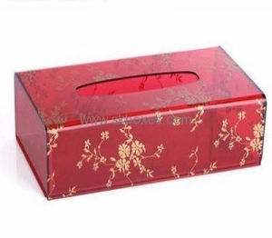 China Wholesale acrylic luxury box tissue box holders decoration small plastic box with lid BTB-067 on sale