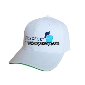 China Flex fitted baseball cap with sandwich peak on sale