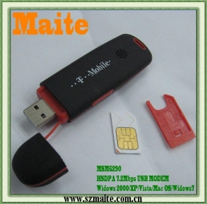 China ALL-BAND 3G HSUPA Modem USB 7.2Mbps(NO DRIVER) on sale