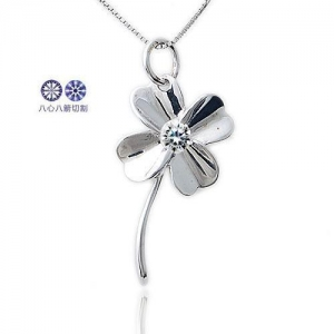 China 925 sterling silver Hearts And Arrows Clover Silver Pendant on sale