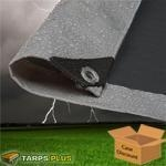 China Super Heavy Duty Silver / Black Poly Tarps on sale
