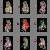 China 100% Organic Cotton Scarf Shawl From Nepal 16 colors on sale