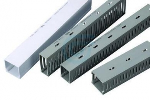 China SLOTTED / SOLID WALL WIRING DUCTS on sale