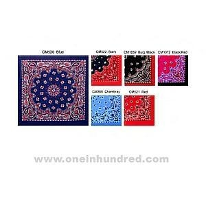 China Red - Two tone paisley bandanna, poly/cotton blend. on sale