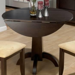 China Dark Chianti Double Drop Leaf Dining Table W/Pedestal Base on sale