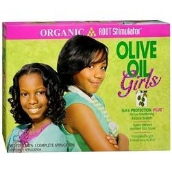 China Organic Root Stimulator Girls Olive Oil No-Lye Conditioning Relaxer System on sale