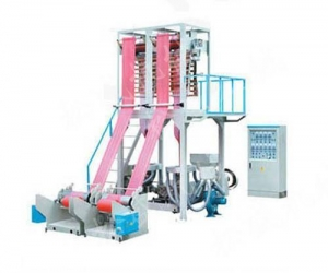 China HD / LD / LLDPE Film Blowing Machine Double Head on sale