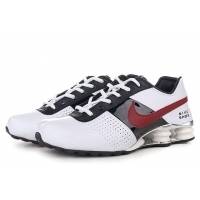 China Nike Shox R4 men shoes black/red/white on sale